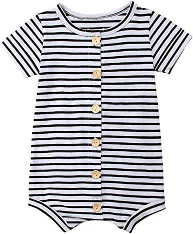 B Bone Lovely Letter Printed 0-24M Cotton Unisex Newborn Infant Baby Romper Short Sleeve Jumpsuit Clothing Outfits