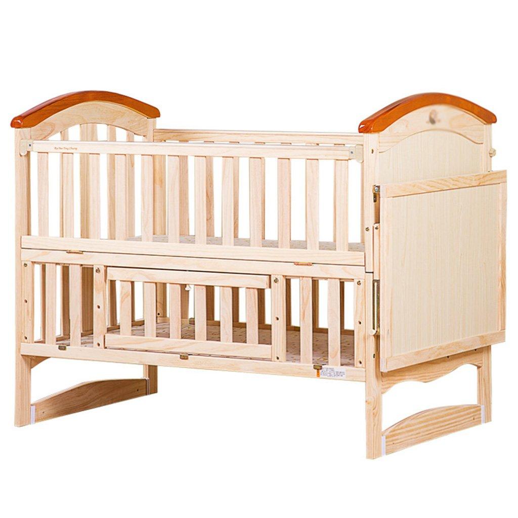 TYJ Kinderbetten Kinderbett Multifunktions Kinderbett Massivholz Umweltschutz Einfache Mode Geschmacklos Keine Farbe Sicherheit Baby Bett Mit Roller Und Moskitonetz