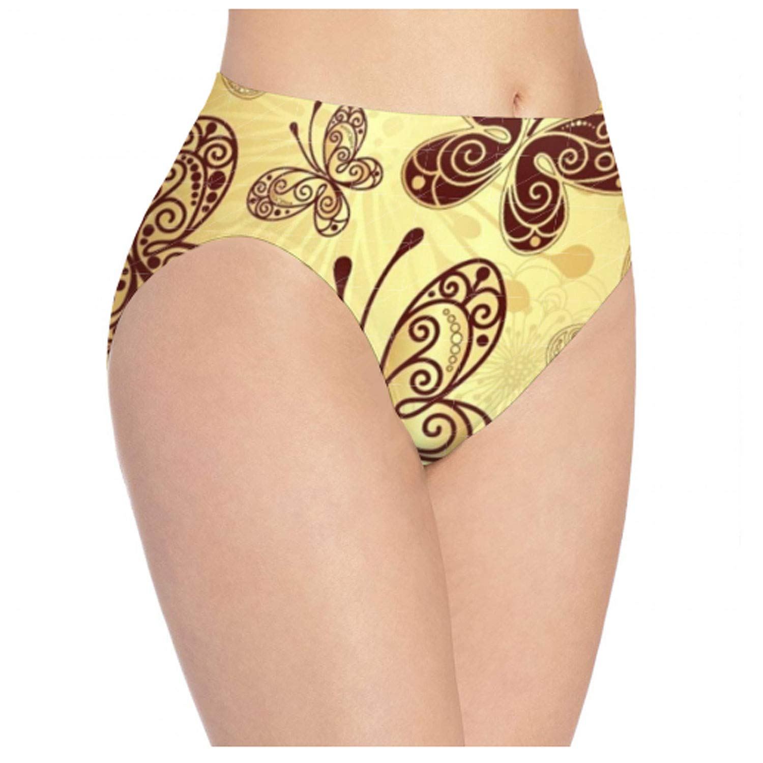 Pitbull Mom Gold Low Waist Seamless Underwear for Women Smooth Panties Stretch Briefs