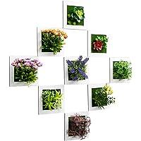Planta verde flor colgante de pared Planta artificial decoración de pared Tienda de té con leche hotel sala de estar colgante de pared colgante Sala de estar colgaduras de pared Pintura