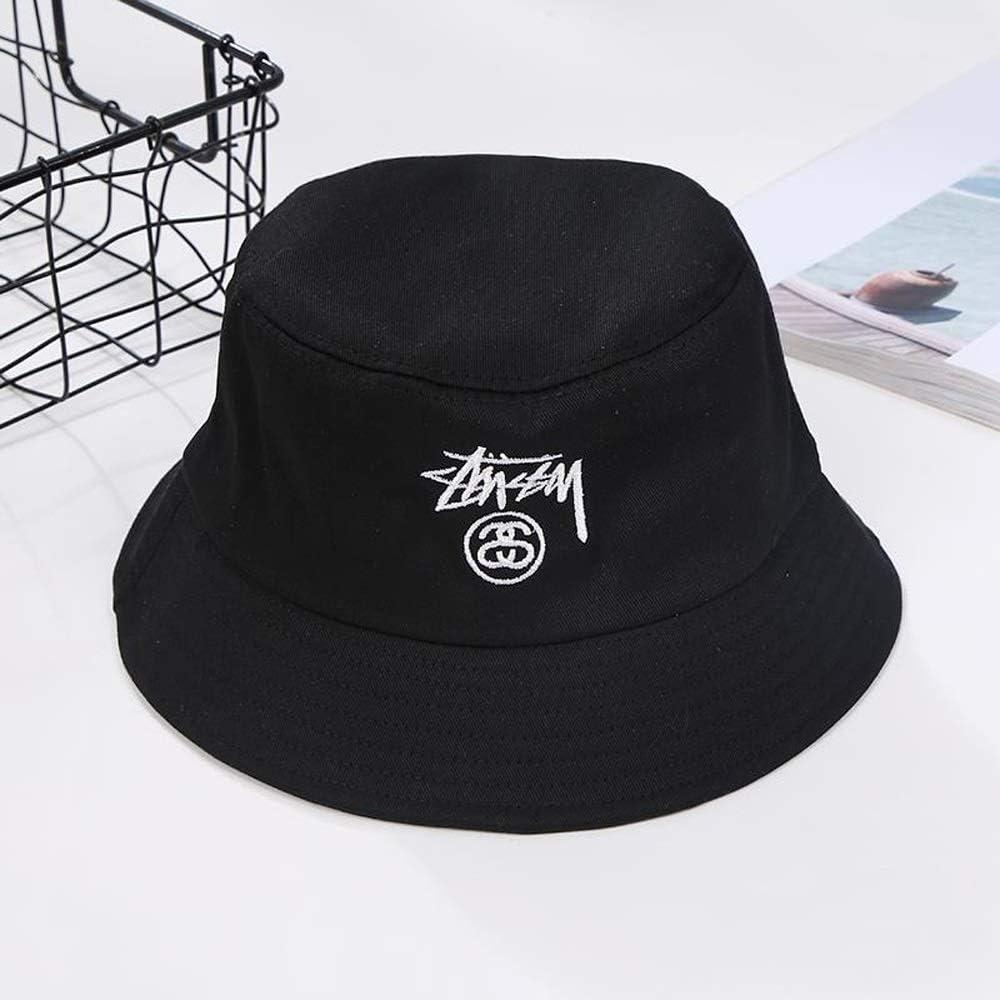 Color : White ZSAIMD Moda Streetwear cap Harajuku Cappello Hip Hop Bob Cappello Ricamo Cappello da Pesca Cappello a Secchiello for Uomo Donna Estate Cappello da Sole Faccina Visiera