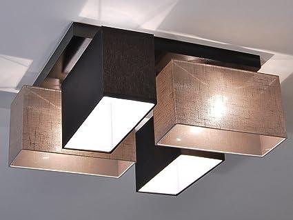 Wunderbar Deckenlampe   HausLeuchten JLS4126D, Deckenleuchte, Leuchte, Lampe,  4 Flammig, Massivholz