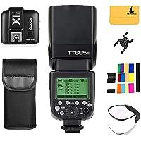 Godox TT685S TTL Sony Flash Speedlite 2.4G HSS 1/8000s GN60 Camera Flash Speedlight + GODOX X1T-S TTL Wireless Flash Trigger Transmitter for Sony A77II A7RII A58 A99 ILCE6000L A350 DSC-RX10 (TT685S + X1T-S)