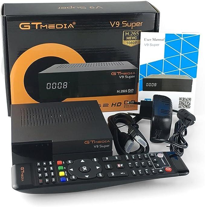 GTMEDIA - Varios Gtmedia () - Receptor Satelite De Sobremesa Gtmedia V9 Super - WiFi - Ethernet - Pvr Ready - Iptv - Youtube