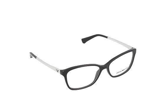 Emporio Armani Montures de lunettes 3026 Pour Femme Black, 52mm ... 58f6676cac4e