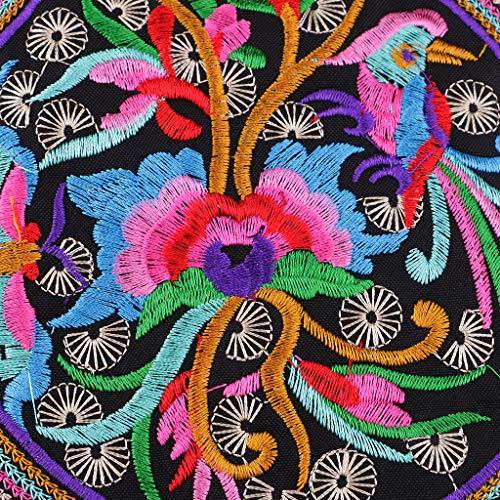 Bandoulière Cercle À P Sac Vintage Brodé Prettyia Coloré Femmes Ethniques De wzpq6Ig