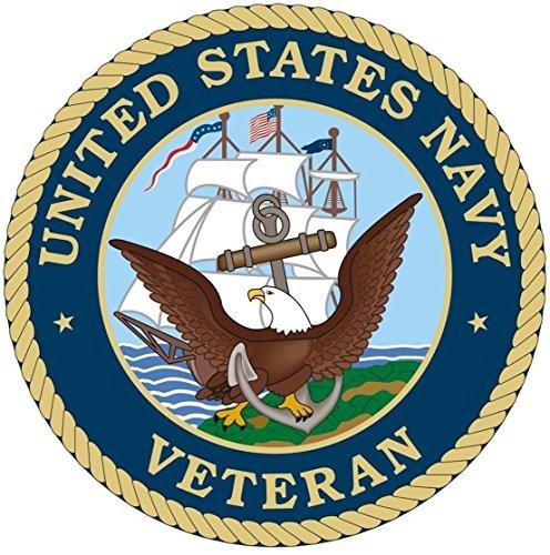 1 Set Superb Popular United States Navy Veteran Sticker Sign Bumper Doors Decals Size 8
