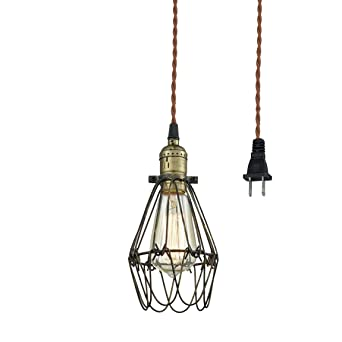 pendant lighting fixture. claxy ecopower industrial opening and closing plugin pendant lighting wire cage lamp guard fixture