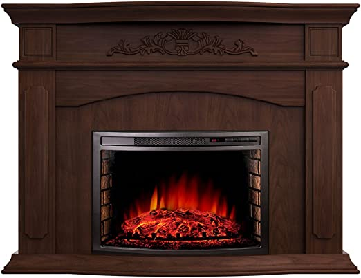 Amazon Com Argo Furniture Alessandra Electric Fireplace Walnut