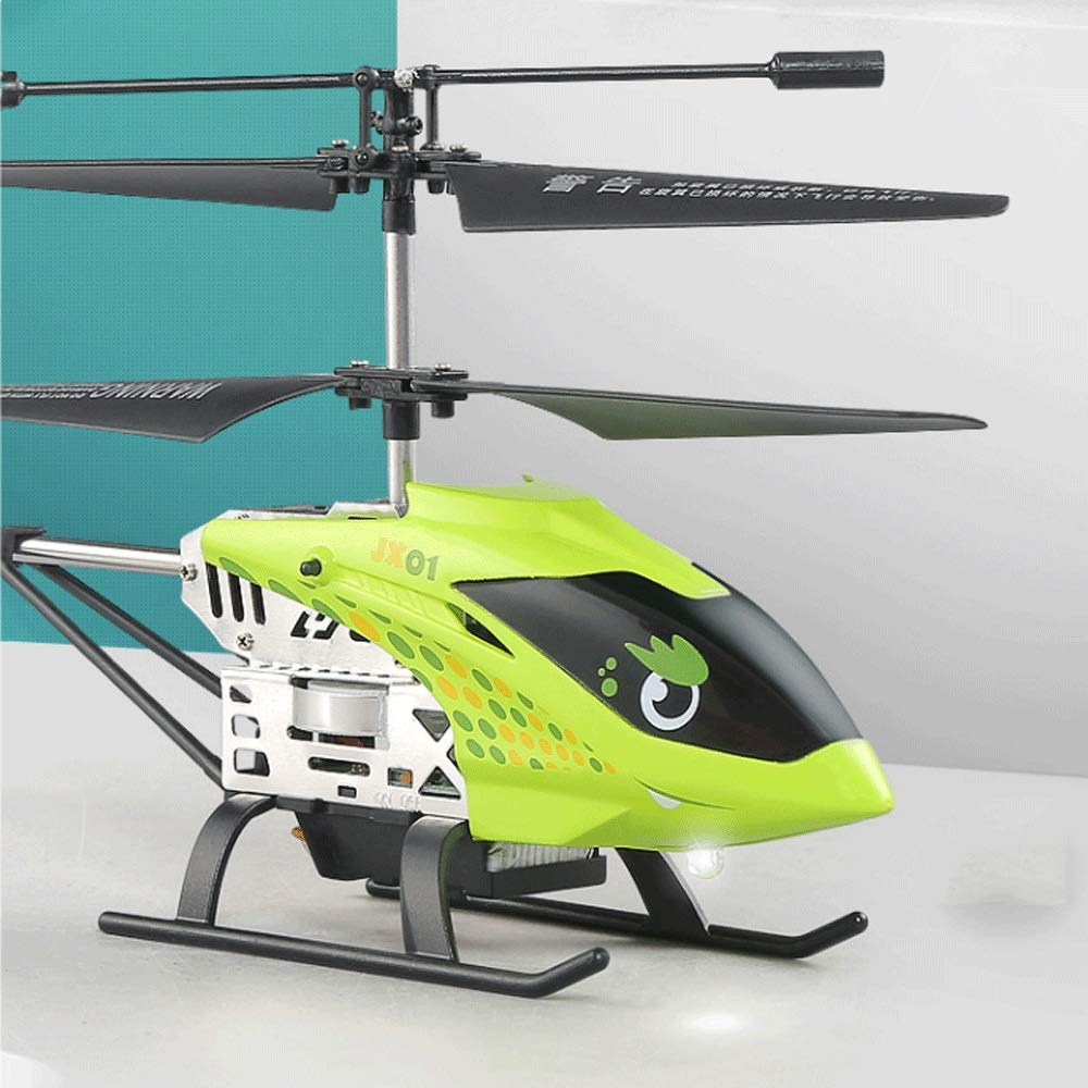 Zenghh RC Helicopter Drone Remote Control Aircraft Easy to Play Cartoon Pattern Alloy Rack Multiplayer Game Boy Toy Airplane Model Gyro Children Favorite Prizes Preferred Gift