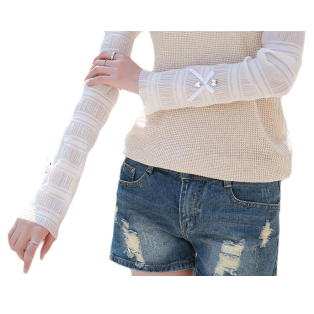Paar Nylon ?rmel Sleeve Strümpfe Armstulpe UV Schutz