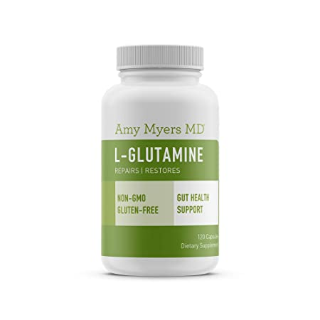 L-Glutamine Capsules from The Myers Way Protocol – Helps Beat Sugar Cravings Support Healthy Weight Loss – Dietary Supplement, 120 Capsules 850 mg per Capsule – from Dr. Amy Myers