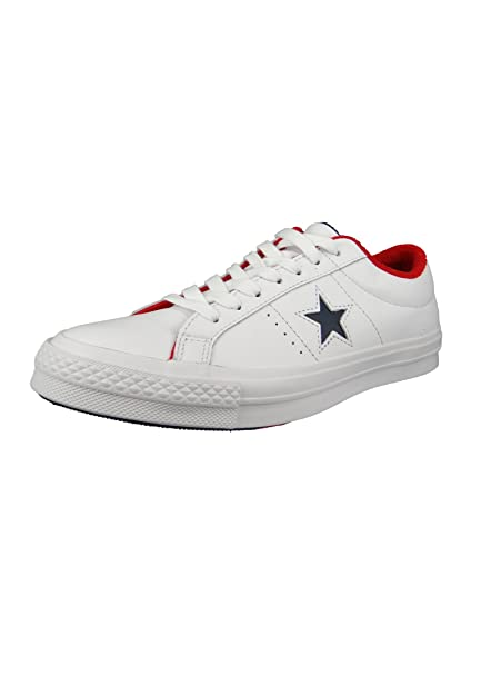 07c7f3f94733ab Converse Chucks 160555C One Star OX White Leather White Athletic ...