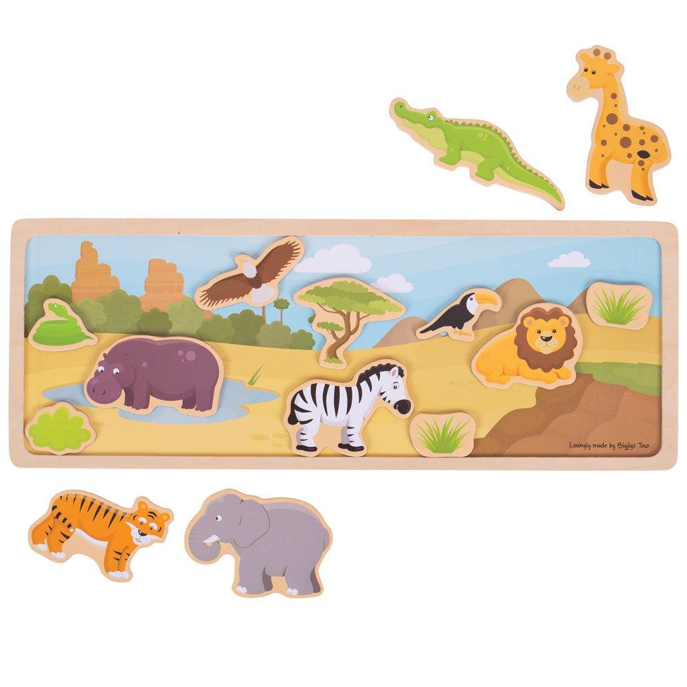 Bigjigs Toys Magnetic Picture Board-Safari BJ908