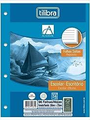 Refil Tiliflex para Caderno Argolado Universitário Folhas Soltas, Tilibra, Académie 96 Folhas