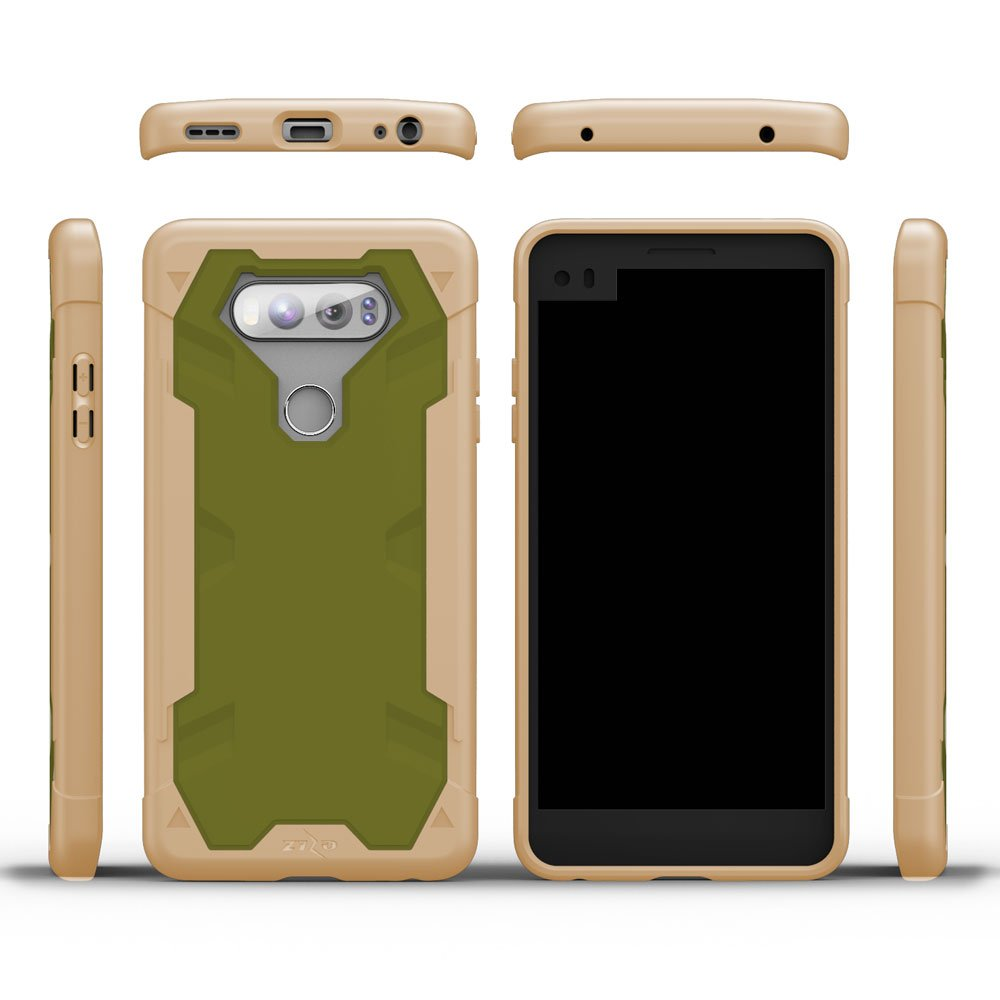 Amazon.com: Zizo Proton 2.0 Series Compatible with LG V20 Case Military Grade Drop Tested with Tempered Glass Screen Protector Desert TAN CAMO Green: Cell ...