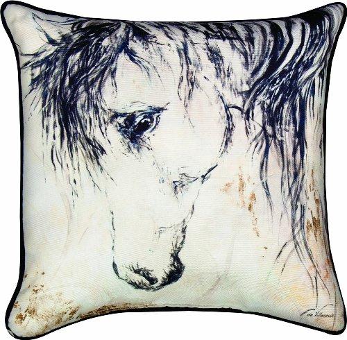 Manual Western Decor Collection Throw Pillow, 18 X 18-Inch, Wild Mane II X Fabrice de Villeneuve (Horse Throw Pillow)