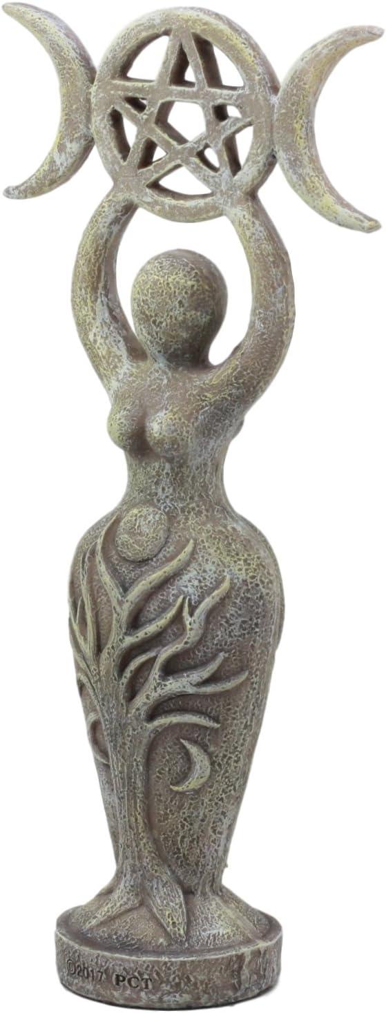 Ebros Abstract Neopagan Shaman Spiral Goddess Statue Lunar Triple Goddess Wicca Symbol Feminine Movement Figurine
