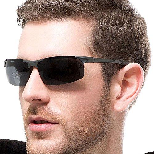 Ultra Lightweight Rectangular Polarized Gray Sunglasses for Outdoor Sports Glare-Free 100% UV protection for - Glare Sunglasses Free