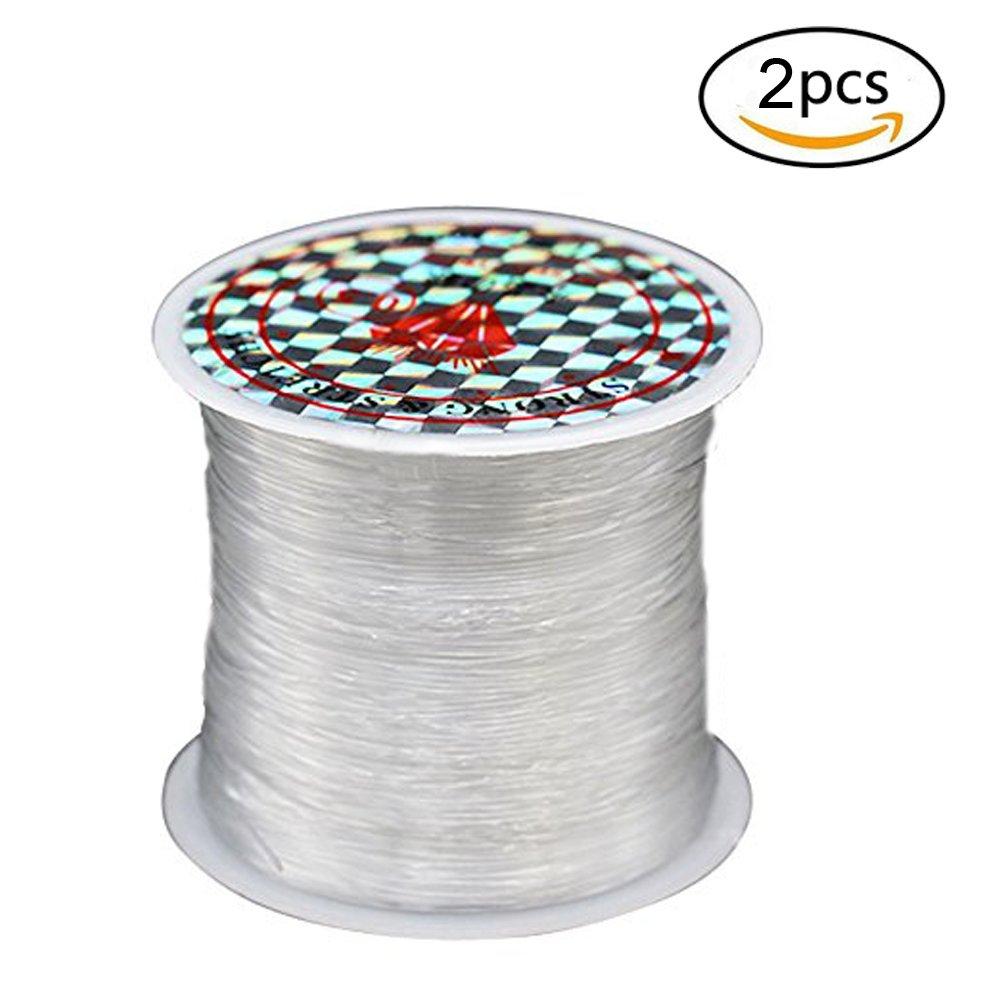 SwirlColor Inelástica transparente DIY hilo de pescar y collar de cuentas (rollos individuales para cada paquete)
