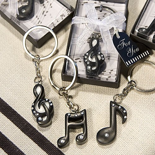 (Musical Note Key Chain Favors - 60 count)