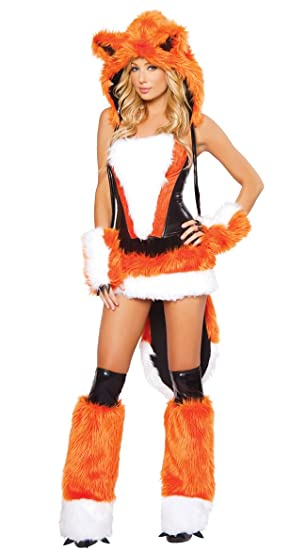 XSQR Sexy Halloween Catwoman Naranja Lobo con Cola Grande ...