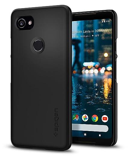 best website 9485c 43a0a Spigen Thin Fit Designed for Google Pixel 2 XL Case (2017) - Black
