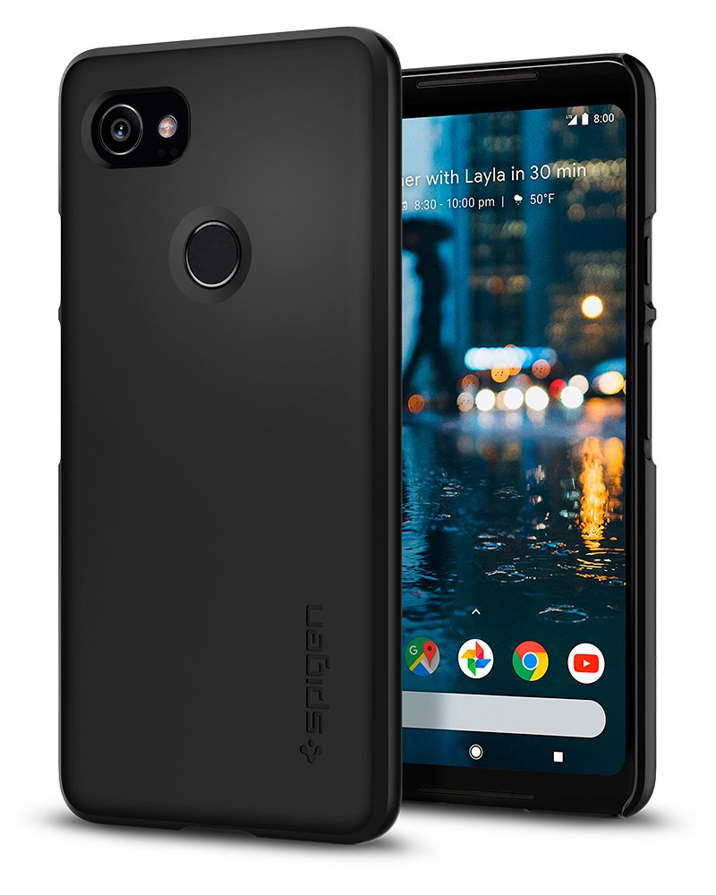 Funda Spigen Google Pixel 2 Xl [black] Thin Fit