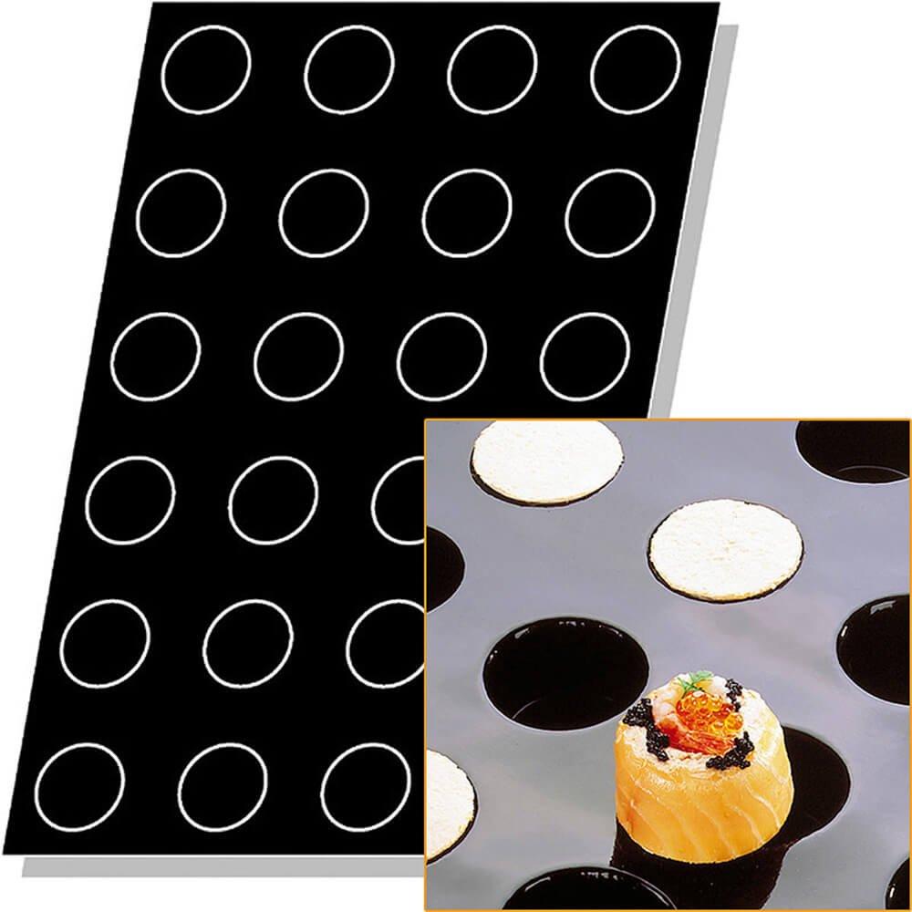 Matfer Bourgeat Silicone Flexipan Cylinder Shape Baking Molds, 48 Cups 336005