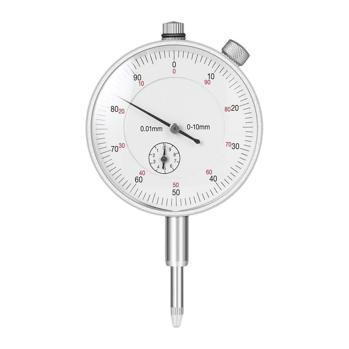 Argent UEETEK lubrification Gobelet /à sonde dCadran Test Plage de mesure 0 10/mm Dial Test Indicator