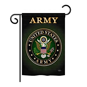"Breeze Decor G158055 Army Americana Military Impressions Decorative Vertical Garden Flag 13"" x 18.5"" Printed in USA Multi-Color"