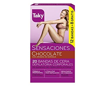 Taky Body Wax Strips With Orange Fragrance Box 20 Units