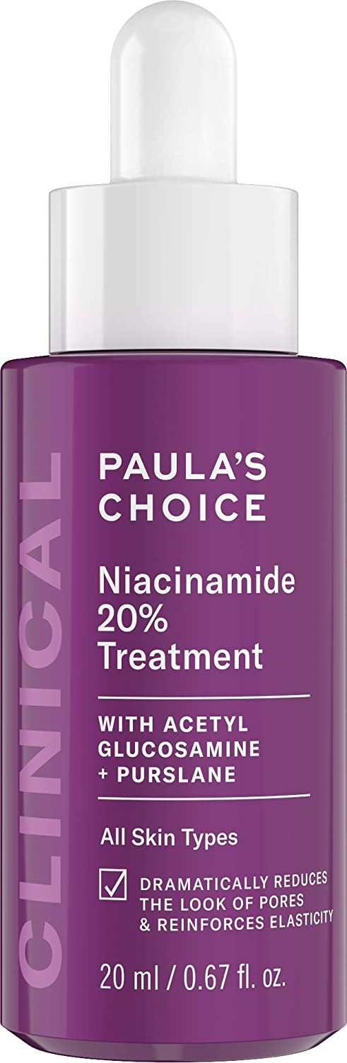 Paula's Choice CLINICAL 20% Niacinamide Vitamin B3 Concentrated Serum, Anti-Aging Treatment for Discoloration and Minimizing Large Pores, Fragrance-Free & Paraben-Free, 0.67 Ounce Dropper Bottle