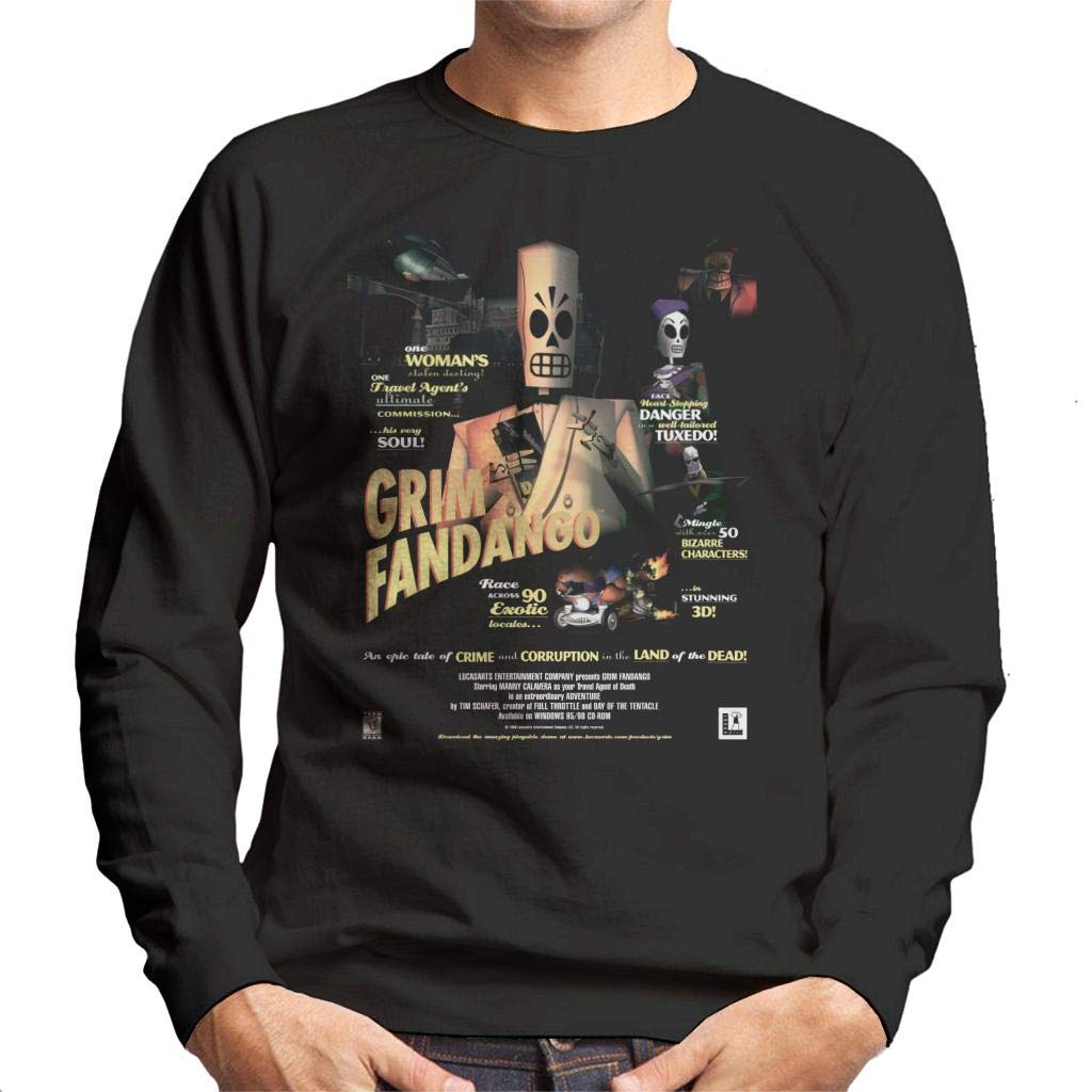 Cloud City 7 Grim Fandango Cover Mens Sweatshirt: Amazon.es: Ropa y accesorios