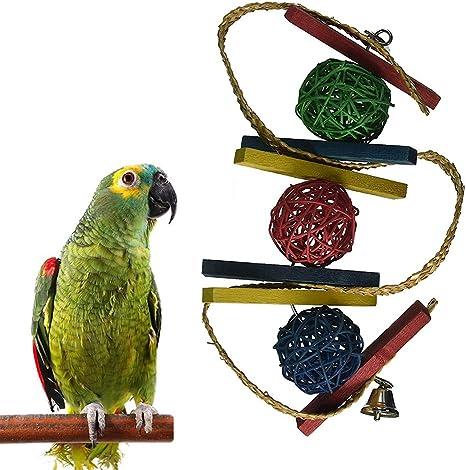 Danigrefinb Juguete para Loro, Loro, pájaros, Bola de Campana ...