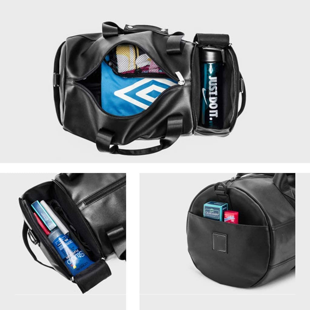 WANGXIAOLINYUNDONGBAO Travel Bag Fitness Bag Portable Multi-Function Black,482425cm Short-Distance Bag Sports Bag