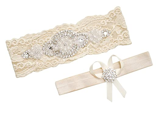 Amazon garters for brides ivory garter wedding garter garters for brides ivory garter wedding garter ivory s 17quot 18quot junglespirit Image collections
