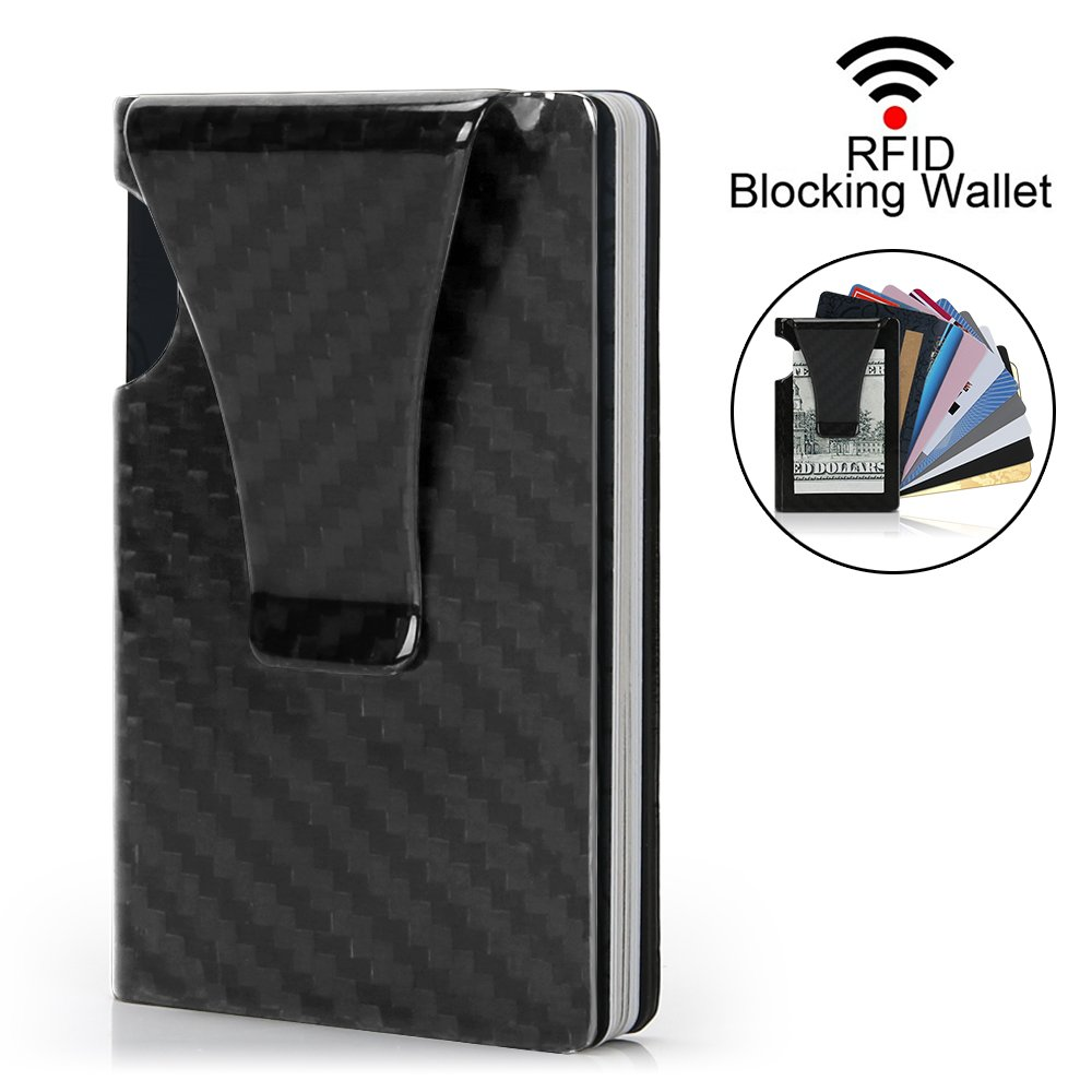 Amazon.com: Money Clip, Slim Wallet- EGRD Minimalist Wallet, Carbon ...