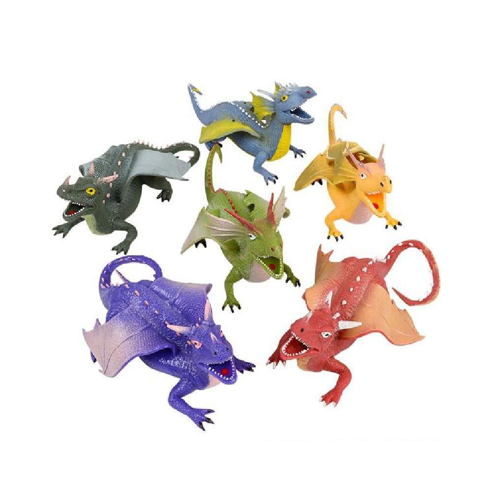 9'' Rubber Stretch Dragon by Bargain World