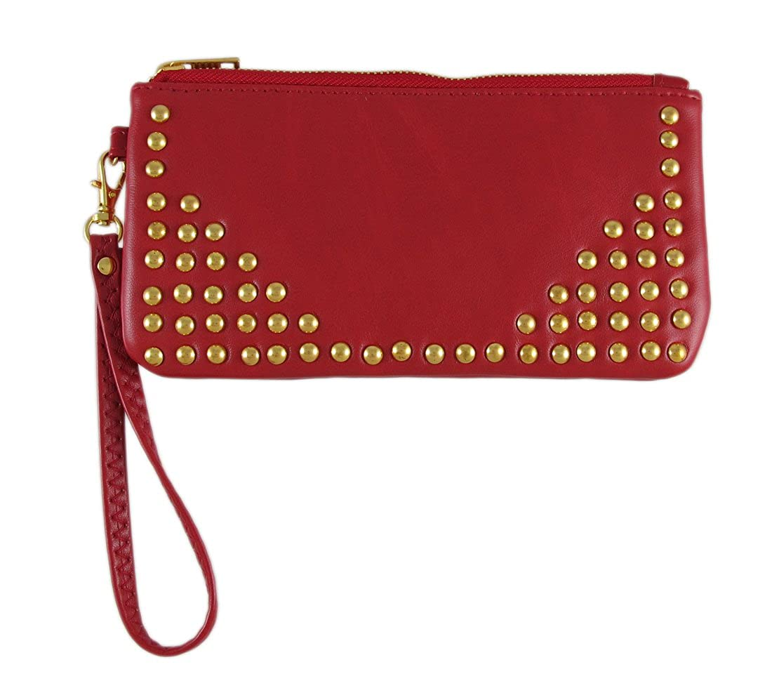 Gold Studded Wristlet Purse