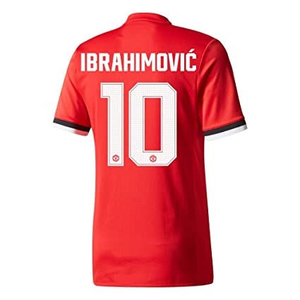0b58b3baf Manchester United Home Authentic Adizero Ibrahimovic Jersey 2017 2018 (Cup  Printing) - S