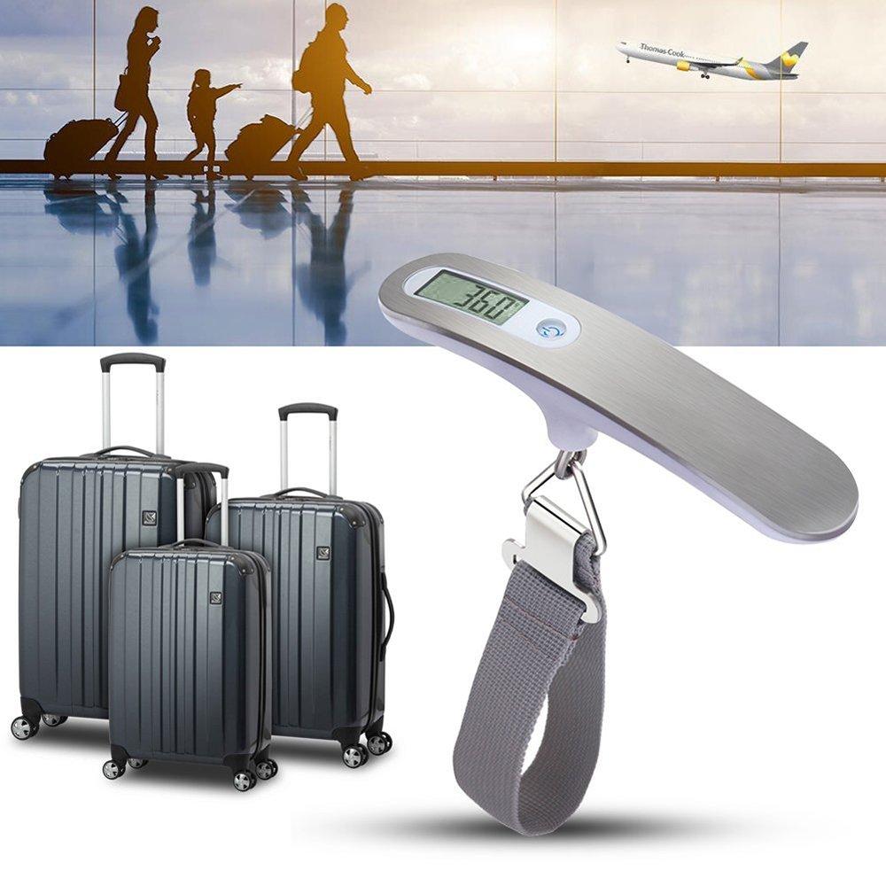 QUMOX High Precision Digital Travel Scale for Suitcase luggage Weight 110lb 50KG Capacity Silver B851U