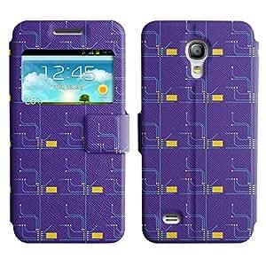 LEOCASE rueda dentada Funda Carcasa Cuero Tapa Case Para Samsung Galaxy S4 Mini I9190 No.1006964