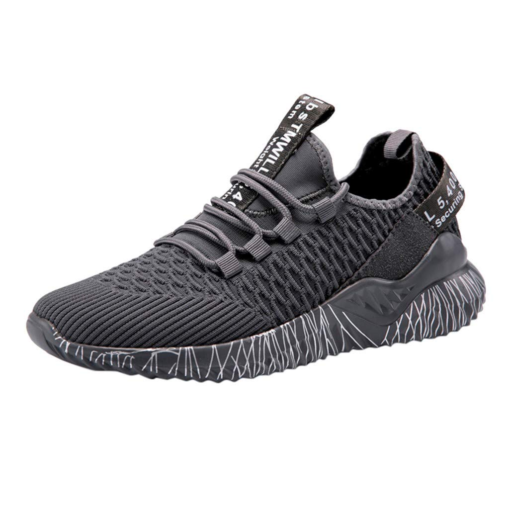 refulgence Mens Athletic Walking Running Tennis Shoes Fashion Comfortable Outdoor Sneakers (Gray,US:7.5) by refulgence