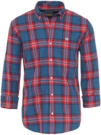 ALTONADOCK Camisa Cuadros Azul Y Roja para Hombre: Amazon.es ...