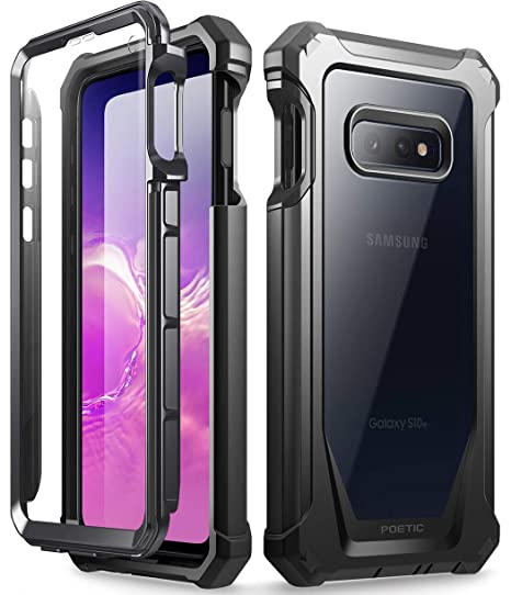 super popular b4456 f924f Galaxy S10e Rugged Clear Case, Poetic Full-Body Hybrid Bumper Cover,  Support Wireless Charging, Includes Built-in-Screen Protector, Guardian  Series, ...