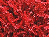 Pack of 1, Red Crinkle Cut Paper Shred 10 Lb Spring-Fill Shred Perfect for Christmas, Valentine's Day & Patriotic Baskets