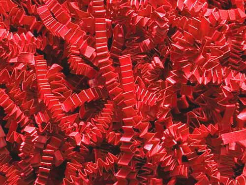 Pack of 1, Red Crinkle Cut Paper Shred 10 Lb Spring-Fill Shred Perfect for Christmas, Valentine's Day & Patriotic Baskets by Generic