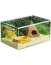 Hellycuche Trasparente Reptile Allevamento Box con visibile in Acrilico Scorrevole di Tipo Feeding Box per Arrampicata Pets