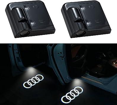 2Pcs for Transformer Car Door Lights Logo Projector, Universal Wireless Car Door Led Projector Lights, Upgraded Car Door Welcome Logo Projector Lights for Transformer All Car Models (FOR AUDI)